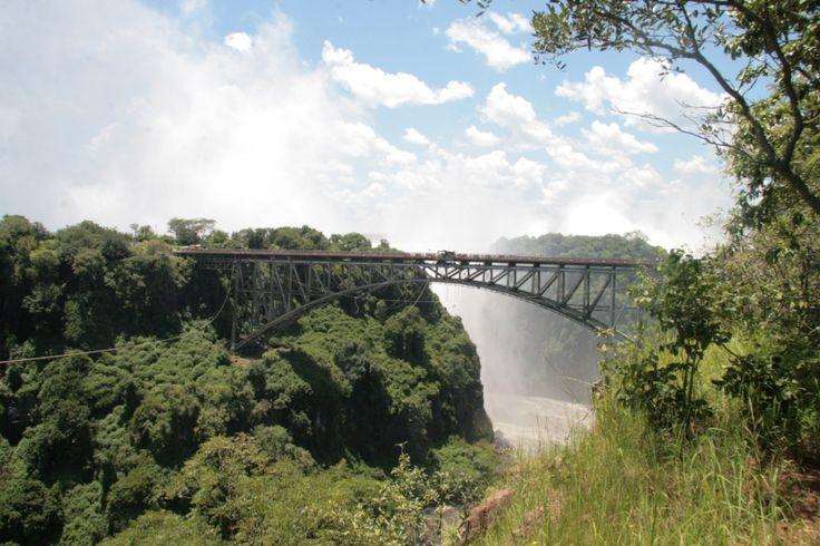 Victoria Falls Bridge between Zimbabwe and Zambia, Vic. Falls Bungee starting point. Just do it!