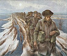 Infantry at Nijmegen by Alex Colville (1920-2013) - (Wikipedia)