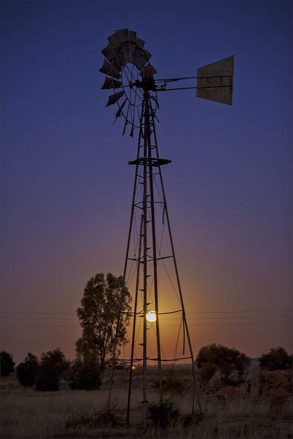 Moonrise in Free State South Africa.