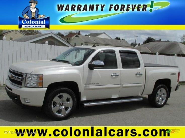 2011 Silverado 1500 LTZ Crew Cab 4x4 - White Diamond Tricoat / Dark Cashmere/Light