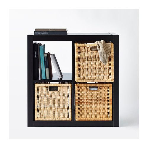 For our crate nightstands: BRANÄS Basket IKEA Perfect for newspapers, photos or other memorabilia. Easy to pull out and lift as the basket has handles.