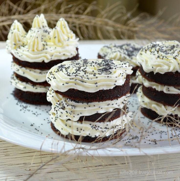О ВКУСНОМ... - Свекольно-шоколадные пирожные с нежным творожным кремом