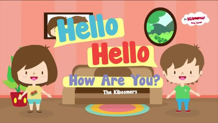 "Hello How Are You | Hello Hello Song for Kids | Hello Hello How Are You song is a fun and simple way to help children greet each other in English! It teaches children how to answer the question, ""How are you?""   #kidssongs   #hello   #esl"