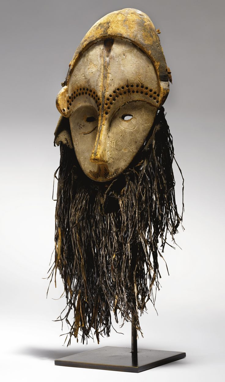 Fang Mask, Gabon Height of wood: 9 1/2 in (24.1 cm) Height with fiber attachments: 18 in (45.7 cm)