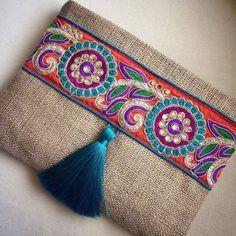 Bohemian Clutch ethnic clutch boho bag clutch by BOHOCHICBYDAMLA
