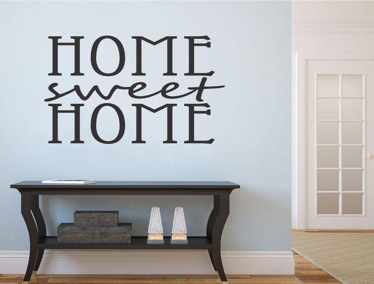 Home Sweet Home Wall Sticker | Wall Art Words Part 69