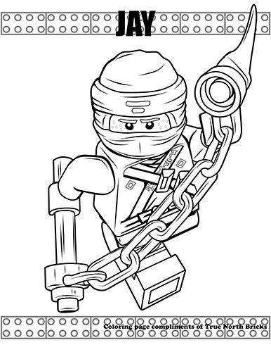 Coloring Page Ninja Jay True North Bricks Ninjago Coloring Pages Lego Coloring Pages Coloring Pages