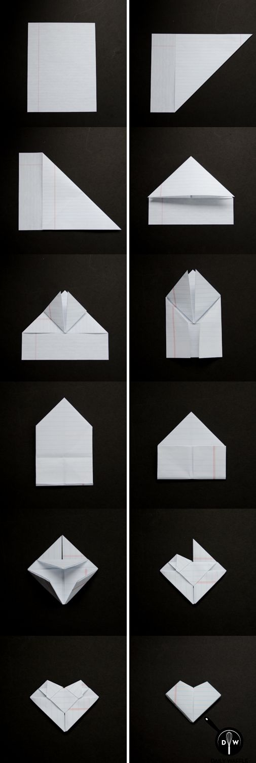 The Lost Art of Folding Notes ~ How to Fold a Valentine's Heart