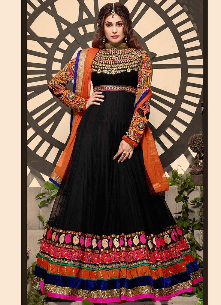 Georgette Puja Gupta Floor Length Anarkali Suit