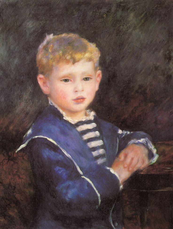 ルノアール 1884 ポール・アヴィランの肖像 ミズリー州カンザスシティ ネルソン=アトキンズ美術館