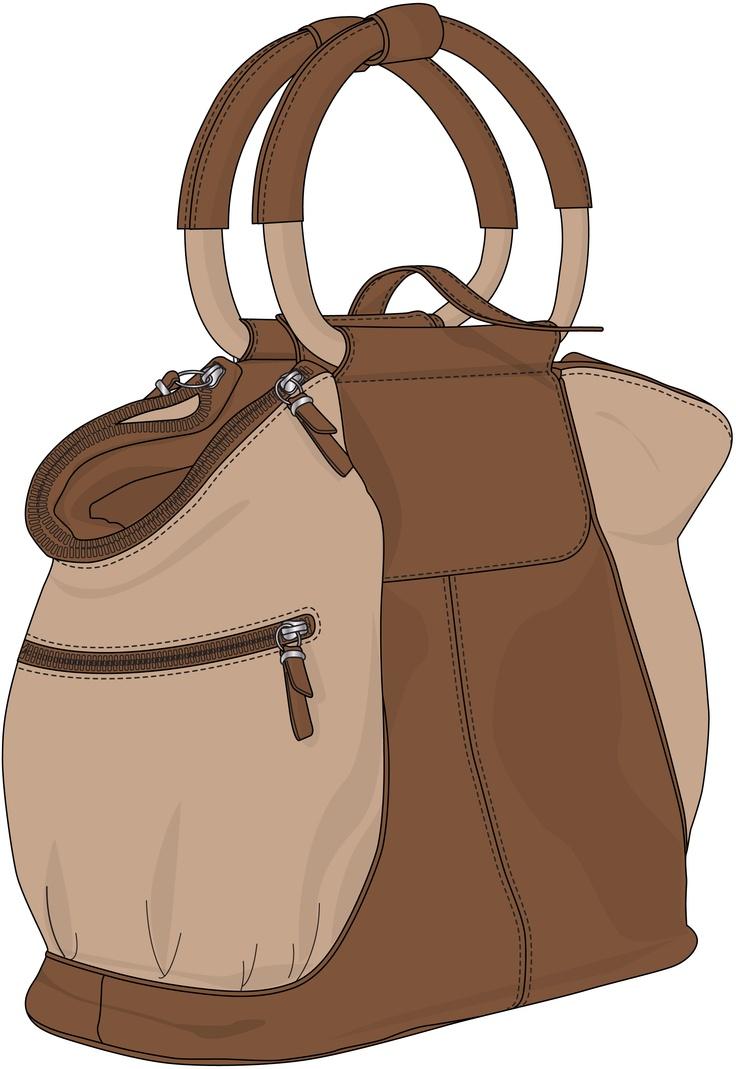 brown handbag with round slings