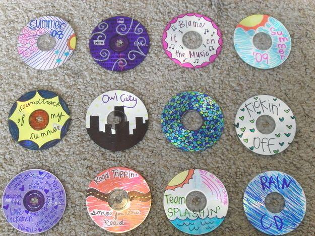 Kul att ha kvar efteråt! <3  Bring CDs. | 29 Simple Road Trip Hacks You Need To Know