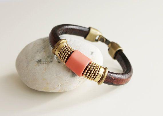 WOMEN BRACELET LEATHER bracelet. Bracelet pour por kalmabisuteria