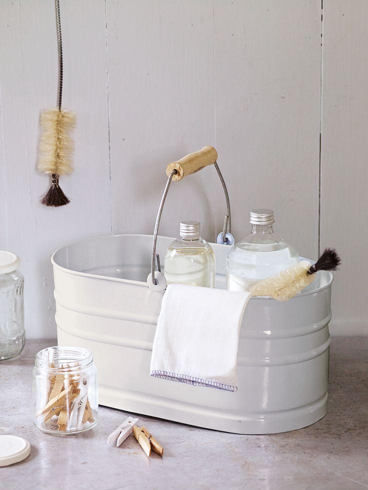 Utility Storage Bucket - Chalk