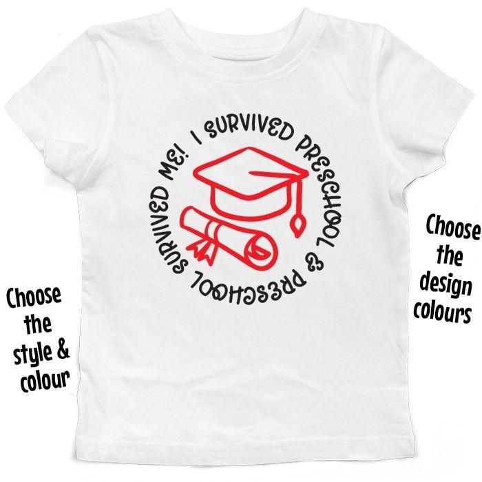 I Survived Preschool & Preschool Survived Me T Shirt or Hoodie