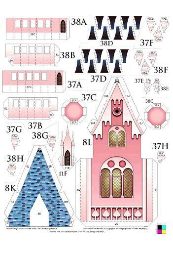 Sleeping Beauty Castle - papermodell - Csipkerózsika Kastélya papírmodell - Maria Varga - Picasa Web Albums