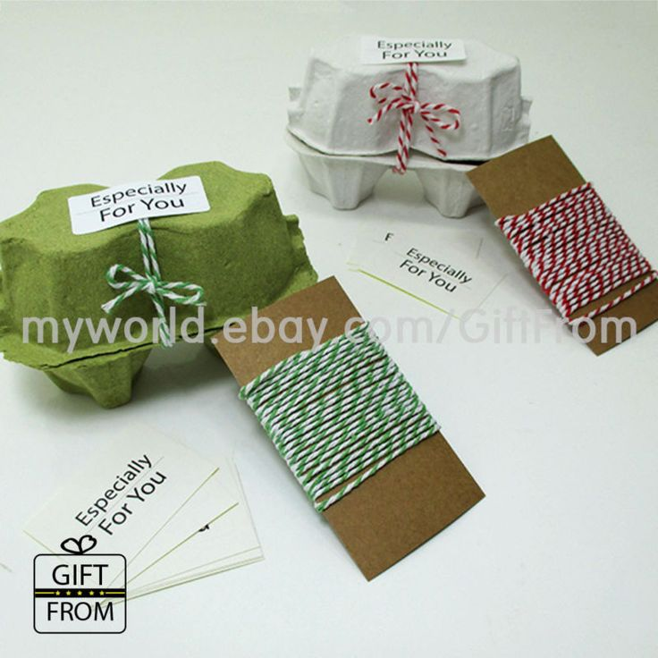 Egg cartons(2 holding type) with twine, stickers