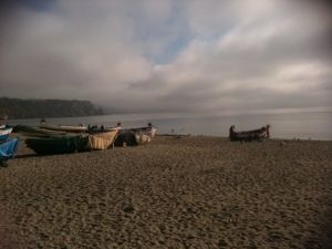 fishing boats on a winters morning -Burriana Beach