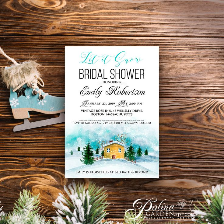 bridal shower invitation pictures%0A Rustic Winter Bridal Shower Invitations Printable Bridal Party Invite   https   www