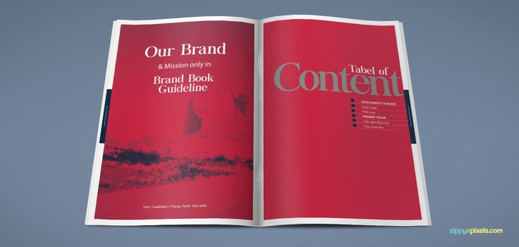 290 best Brand Book Templates images on Pinterest Brand book - booklet template free download