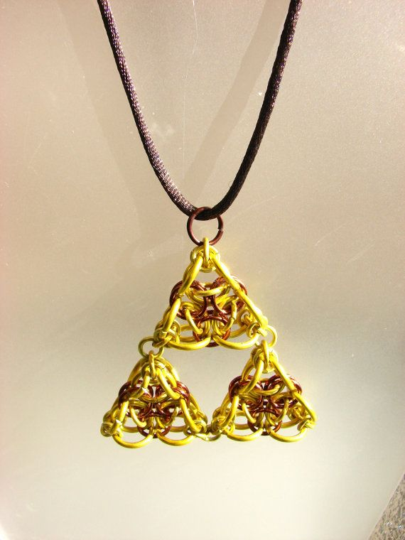 Triforce Style Pendant by CraftMonsterShop on Etsy, $20.00