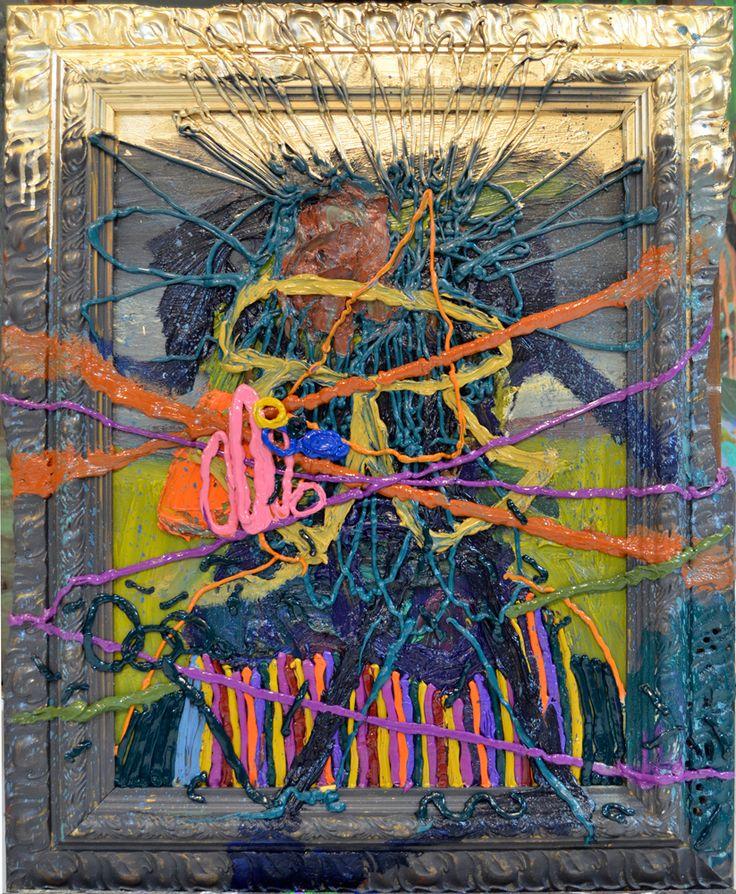 Jigger Cruz, Laid against Reality, 2015, Oil and spray paint on canvas, 71,12 × 55,88 cm, CRUZ0033