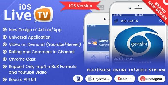 iOS Live Tv Pro in 2019 | Source Code for Mobile Apps | Tv