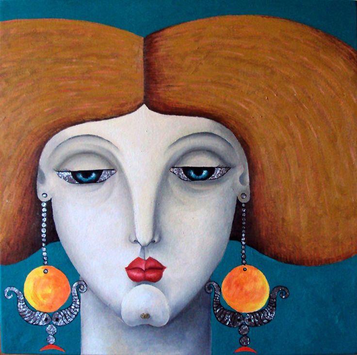 Egyptian artist, Mohammad Elmoslemany Egypt Oil on canvas