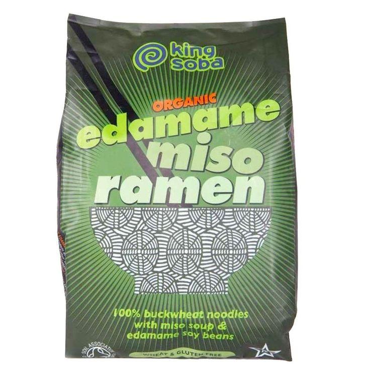 King Soba Organic Edamame Miso Ramen Noodles 80G