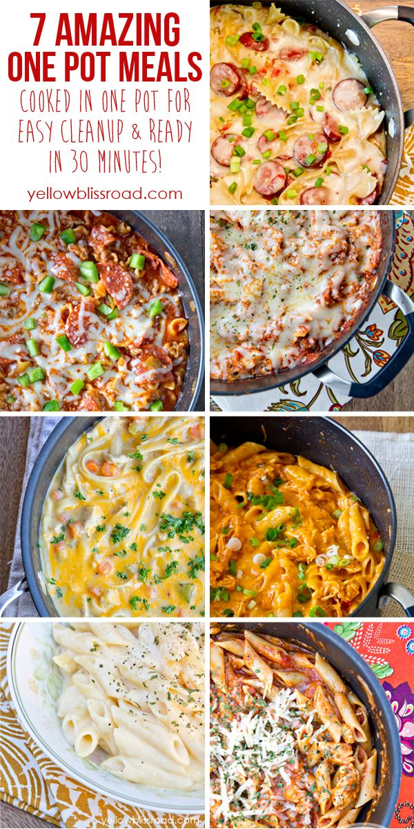 7 Easy One Pot Meals