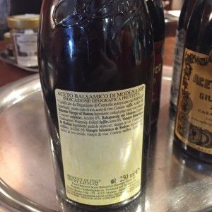 Vinagre Balsâmico-original da Itália-5 Medaglie d'Oro Banda Rossa verso