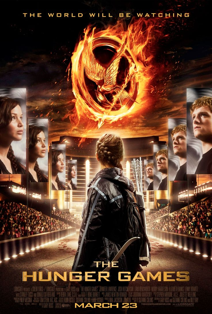 The Hunger Games ~ Josh Hutcherson, Stanley Tucci, Wes Bentley, Jennifer Lawrence, Liam Hemsworth, Elizabeth Banks, Woody Harrelson, Toby Jones, Lenny Kravitz, Donald Sutherland, Jack Quaid.