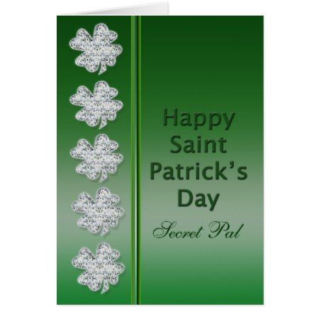 St. Patrick's Day - Secret Pal -Card Card - click to get yours right now!