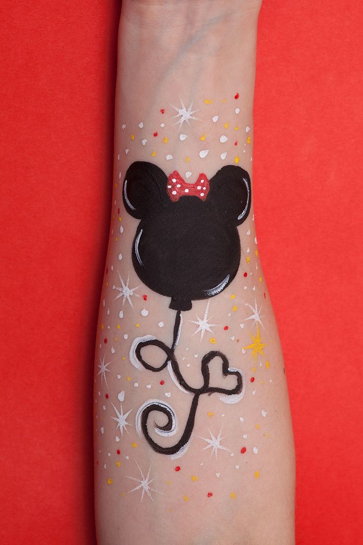 Minnie Mouse Face Painting #FacePainting