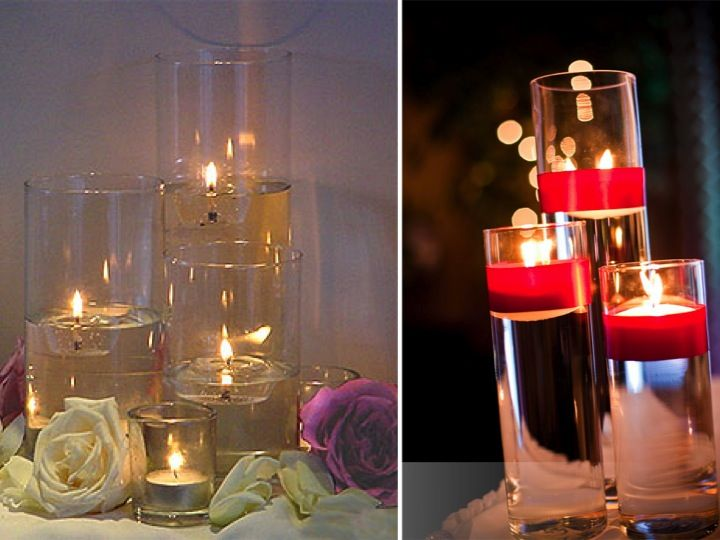 Things to know before using candles for the wedding buffet for Candle table decorations