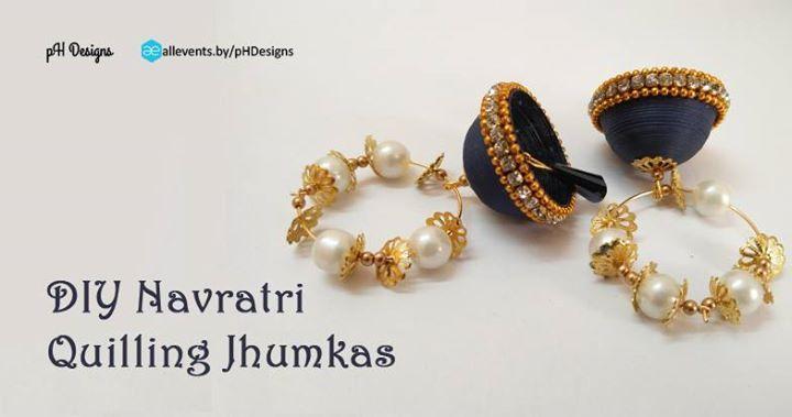 DIY Navratri Quilling Jhumkas