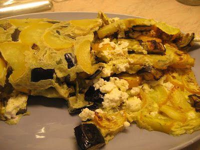 Ζουζουνομαγειρέματα: Ομελέτα καλοκαιρινή φούρνου με λαχανικά στο γκρίλ