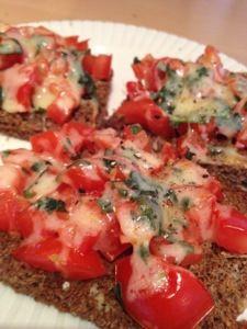 Scan bran bruschetta for breakfast #slimmingworld #healthyextra