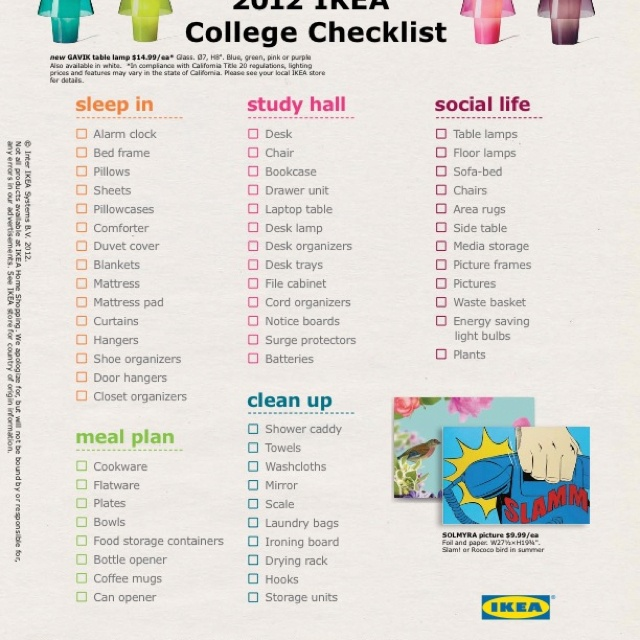 Things You Need For An Apartment: College Apartment Checklist
