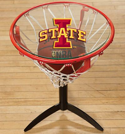 Check out this Iowa State Cyclones rim table. This is perfect for any Iowa State man cave. Goalsetter also offers a variety of other colleges for all basketball fans!