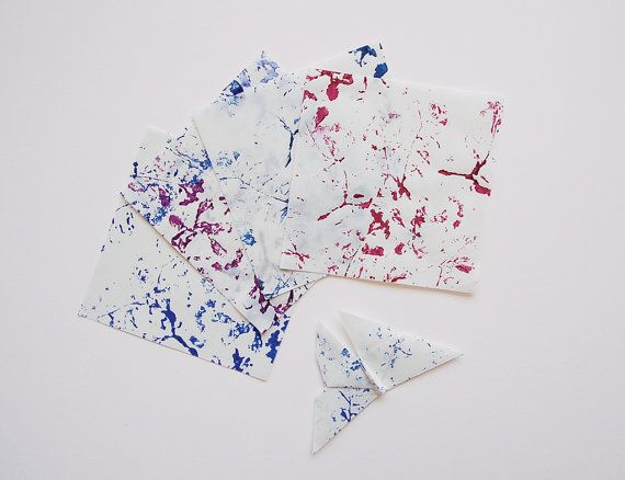 4 little origami sheets 10 cm x 10 cm available in 4 by 23janvier, $2.70