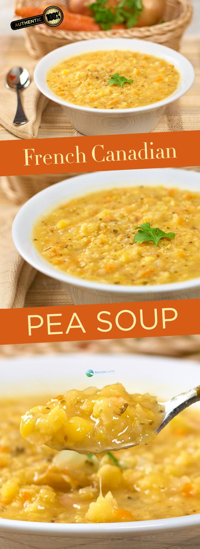 This authentic French Canadian recipe is a classic belly warmer and perfect for a cold day.  Split-pea soup with a ham bone, ham hock or salt pork.  Make it a vegetarian split-pea soup by leaving out the ham bone and using vegetable stock instead of water.