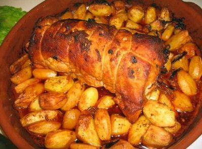 Receita de Porco assado à Ribatejana - http://www.receitasja.com/receita-de-porco-assado-a-ribatejana/