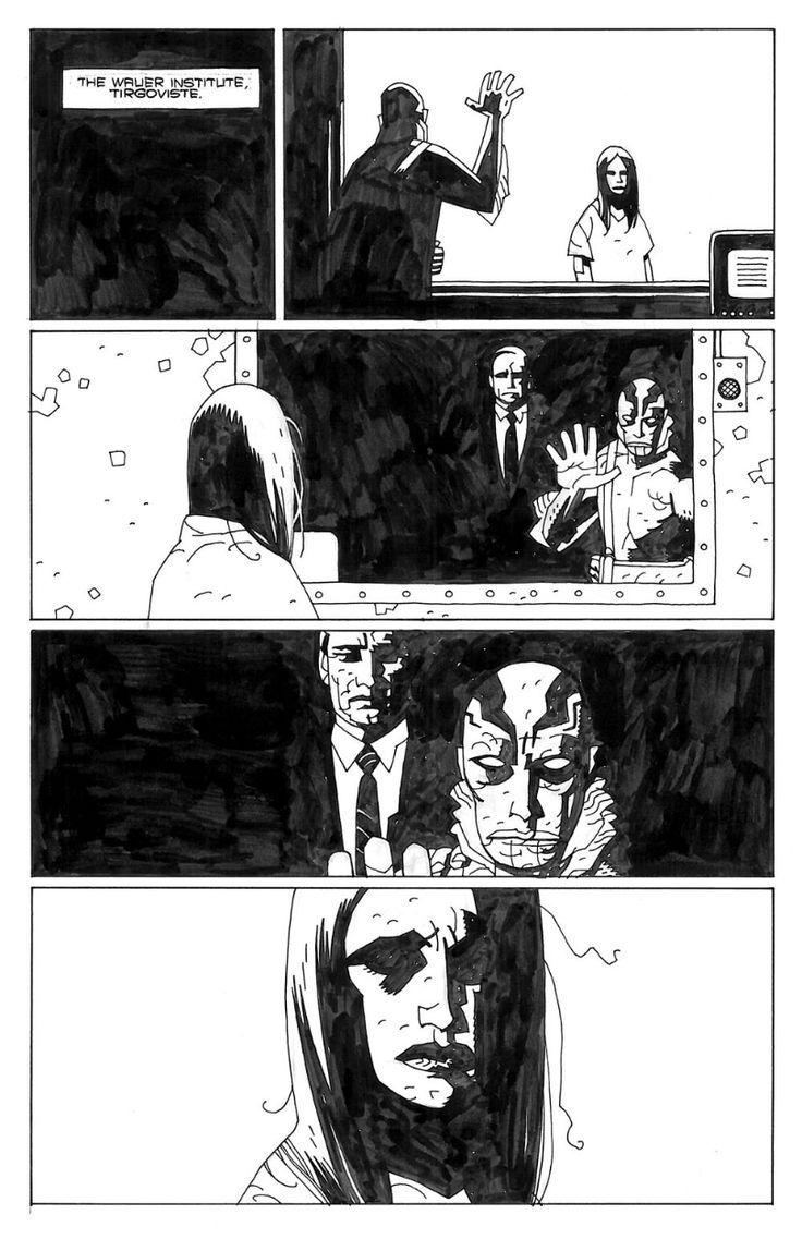Mignola Almost Colossus Comic Art