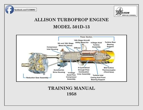 Allison Turboprop 501D-13 Engine Training Manual