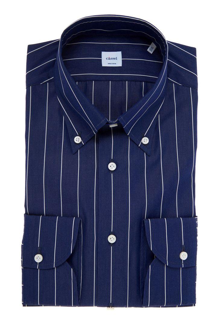 Carrel Shirt Camicia Càrrel blu collo button down