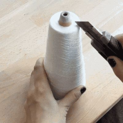 This GIF of a Spool of Thread Getting Sliced is Strangely Beautiful — Moment of Zen