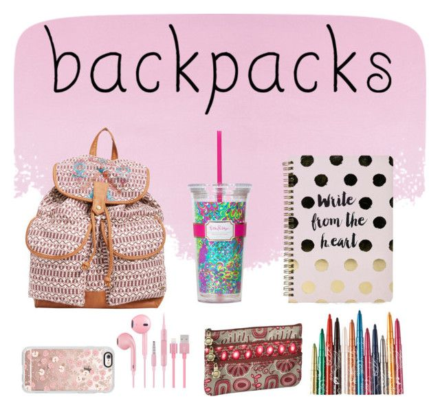 """BACKPACKS"" by valemx ❤ liked on Polyvore featuring Designers Guild, Billabong, Boohoo, Casetify, Lilly Pulitzer, backpacks, contestentry and PVStyleInsiderContest"