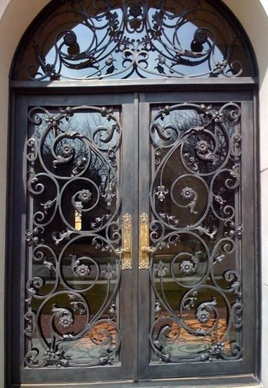 Beautiful wrought iron doors gorgeous wrought iron doors for Door design of iron