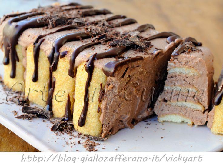 Mattonella di pavesini al cioccolato e mascarpone, yogurt, ricetta facile, dolce freddo, dessert, dolce estivo, feste, buffet, dolce per ospiti all'improvviso